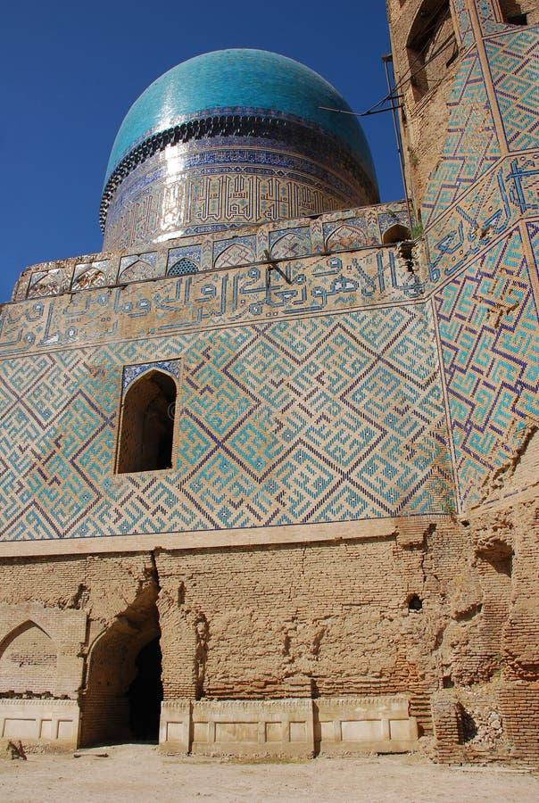 Bibi Khanum Mosque (Bibi Khanum), Mohammedaans mozaïek royalty-vrije stock foto