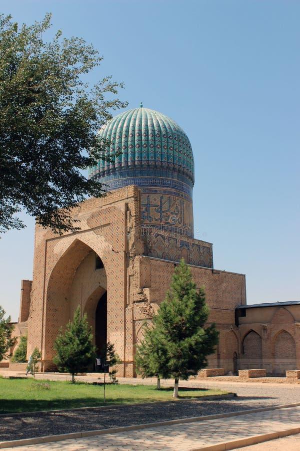 Bibi Khanym Mosque in Samarkand, Uzbekistan stock image