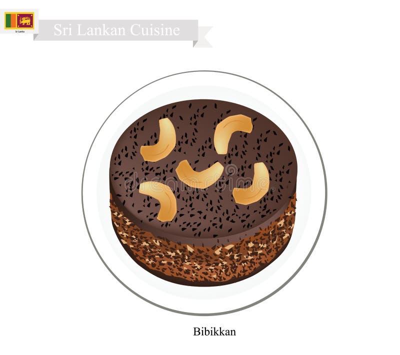 Bibikkan o dolce dello Sri Lanka della melassa della noce di cocco royalty illustrazione gratis