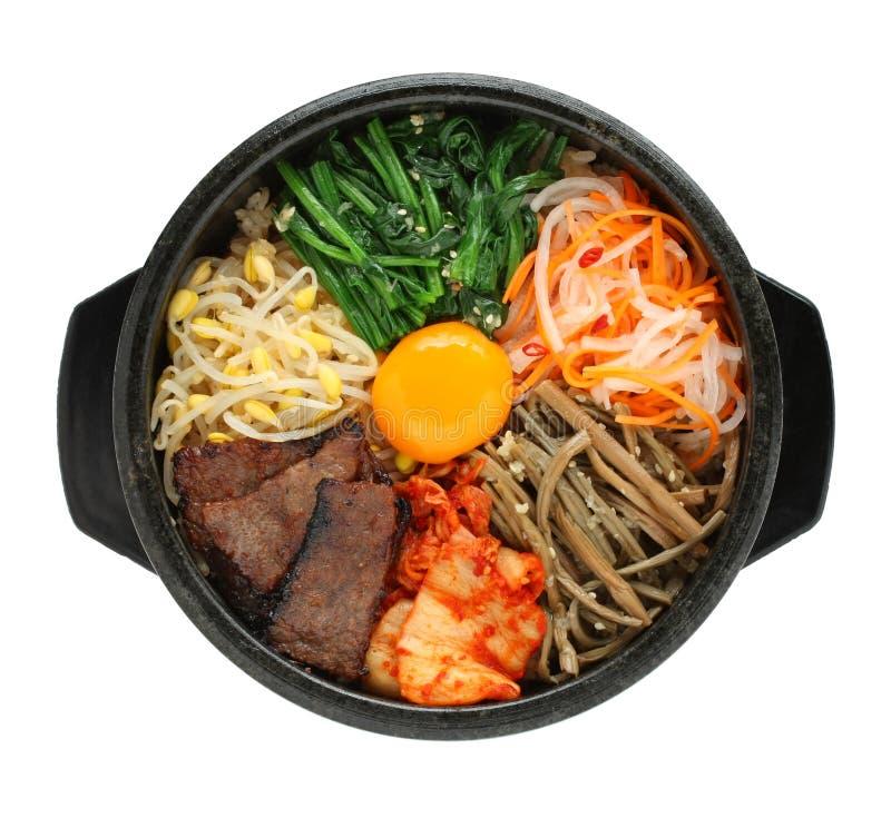 Bibimbap, Koreaanse keuken stock foto's