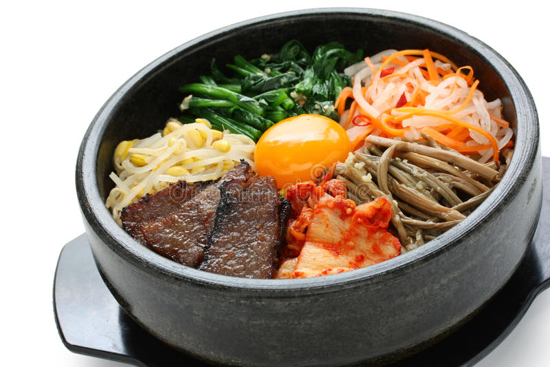 bibimbap kuchni koreańczyk obrazy royalty free
