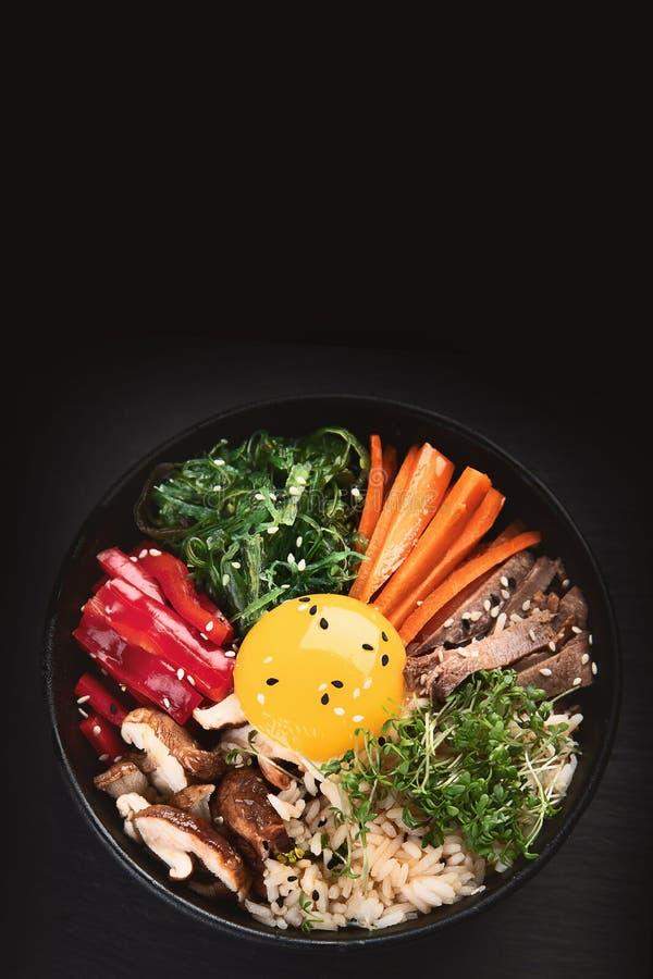 Bibimbap - piatto coreano tradizionale immagine stock