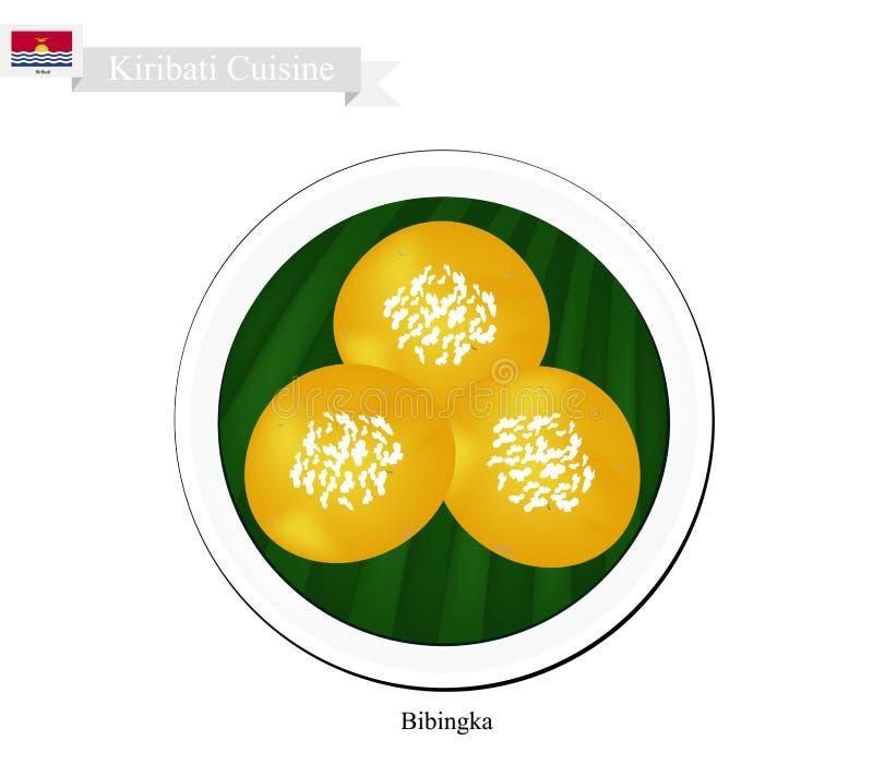 Bibingka eller kiribatiska riskakor med ost royaltyfri illustrationer