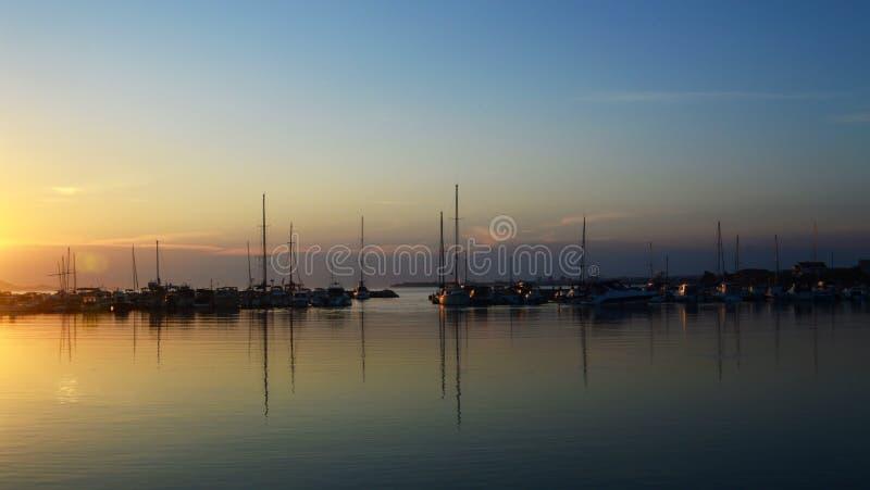 Bibinje小游艇船坞  免版税库存图片