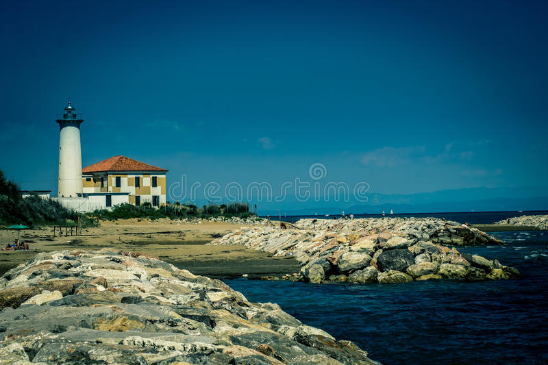 Bibione´s Lighthouse royalty free stock images