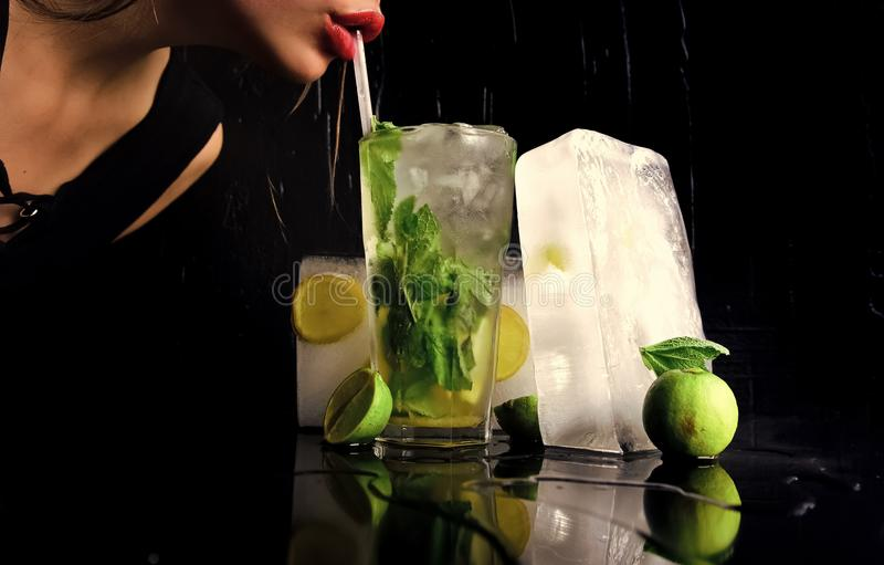Bibite Antivari e ristorante, limonata fotografia stock