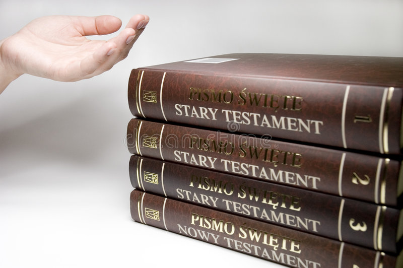Bible. On the table stock photography