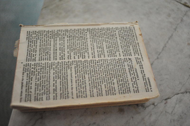 Bible. In an abandoned church in Rodney, Mississippi royalty free stock photo