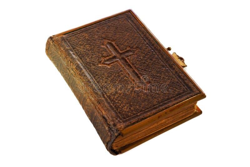 Bible avec la croix photo stock