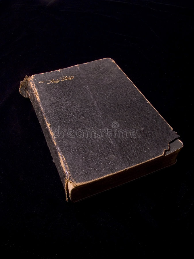 Download Bible on Black 2 stock photo. Image of pray, read, leather - 70436