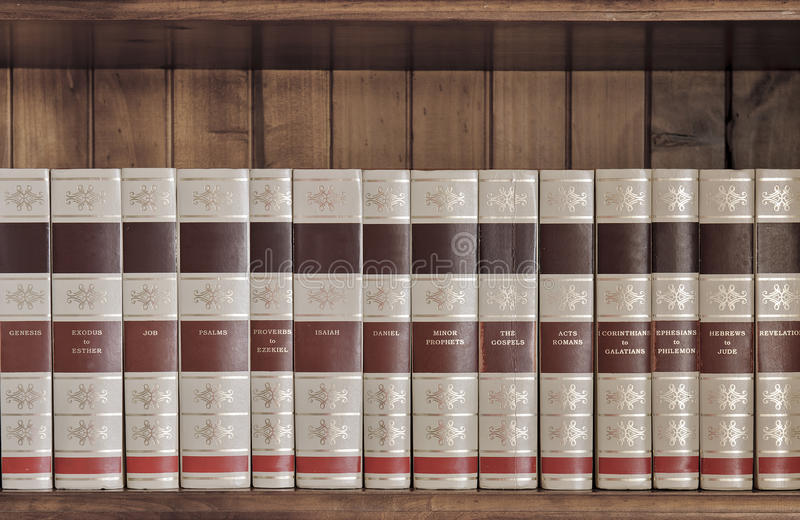Bible Books Stock Photography