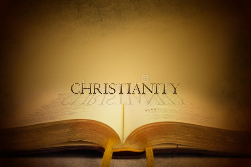 Bible and Christianity. Theology, Cross and Religion. Christianity stock illustration