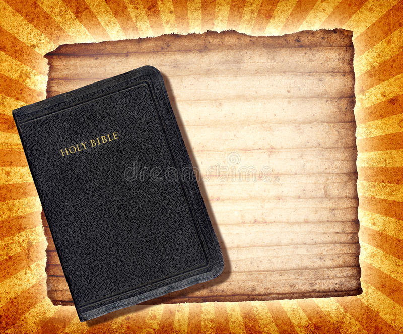 Bible Collage. A vintage collage with The Holy Bible vector illustration