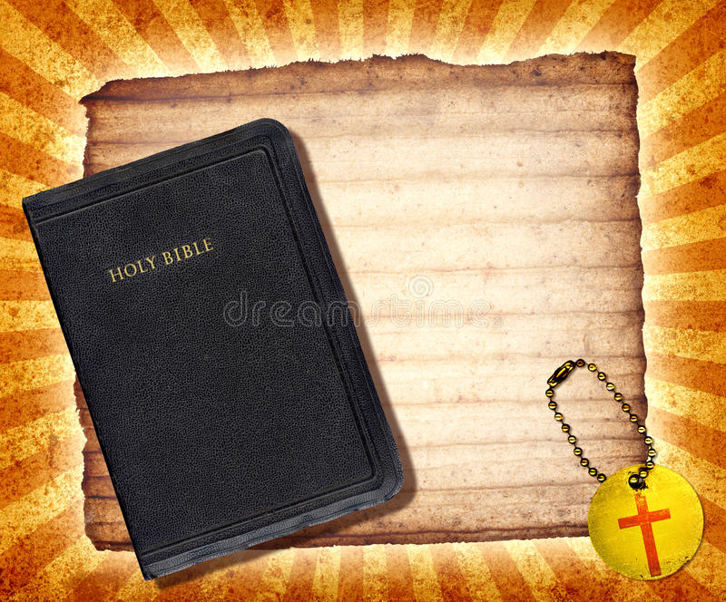 Bible Collage. A vintage collage with The Holy Bible stock illustration