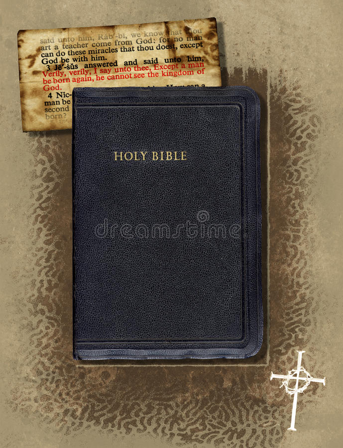 Bible Collage. A vintage collage with a Holy Bible vector illustration