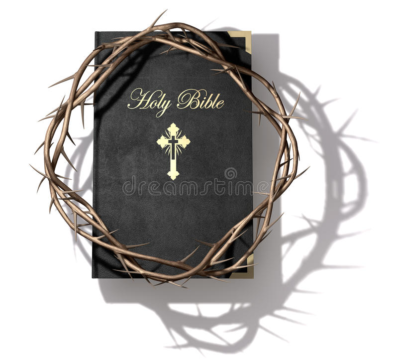 Bible And Crown Of Thorns