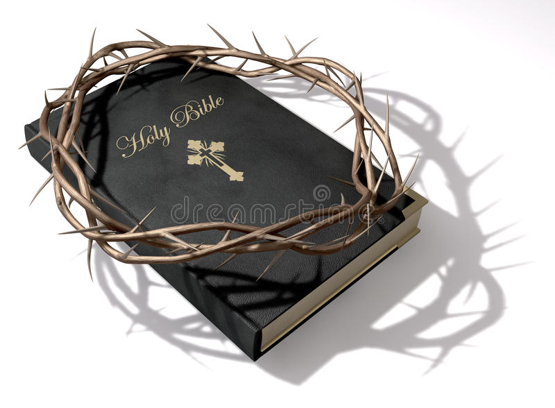 Download Bible And Crown Of Thorns stock illustration. Image of scriptures - 29198302