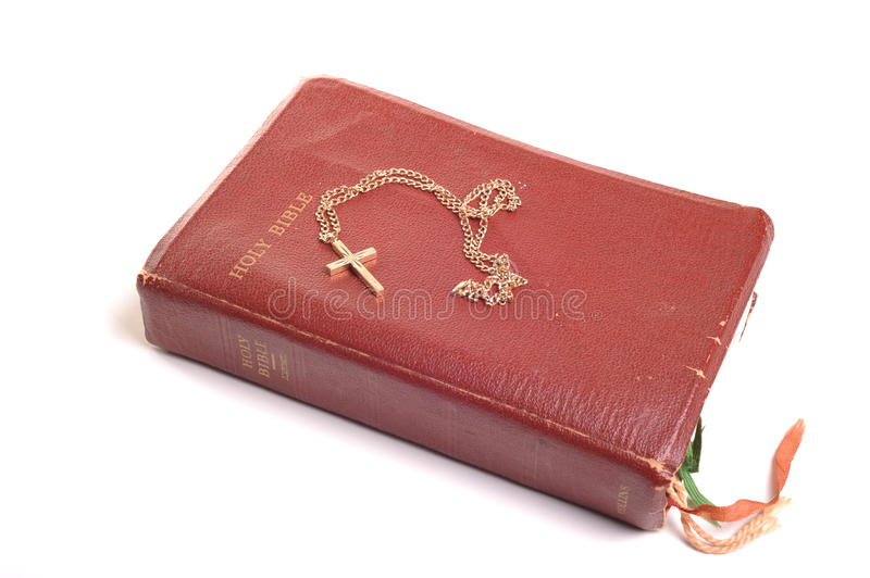 Download Bible and crucifix stock photo. Image of studio, isolated - 20026532