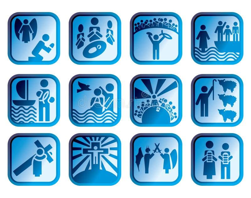 Bible de chrétien d'icône illustration libre de droits