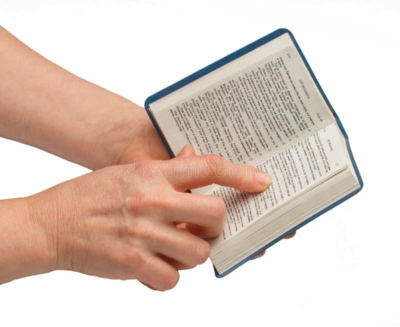 Bible de lecture de femme images libres de droits