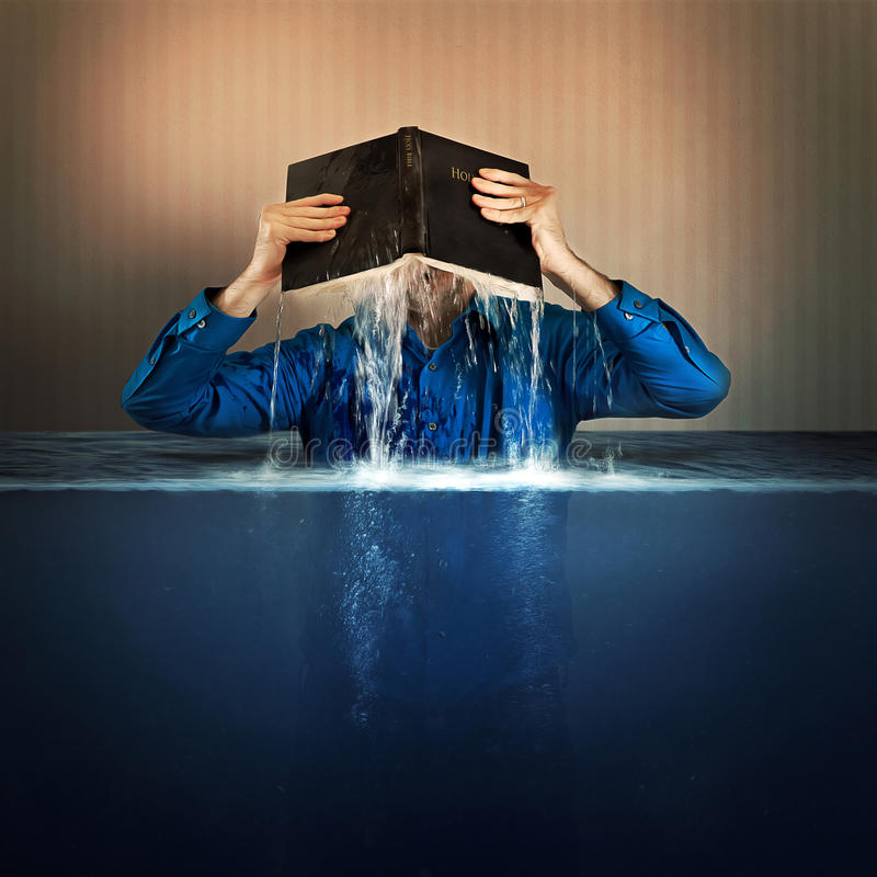 Bible flood waters stock images