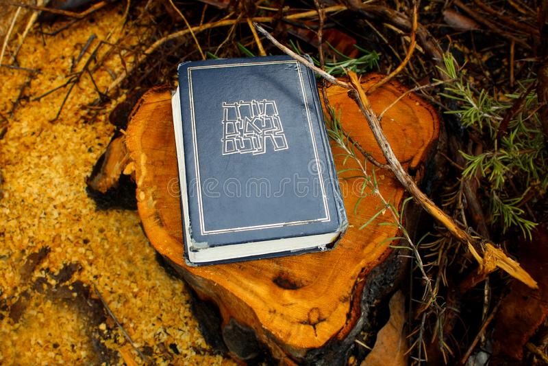 Bible hébraïque ou Tanakh Torah, Neviim, Ketuvim Collection canonique de textes juifs, livre juif l'israel photos libres de droits