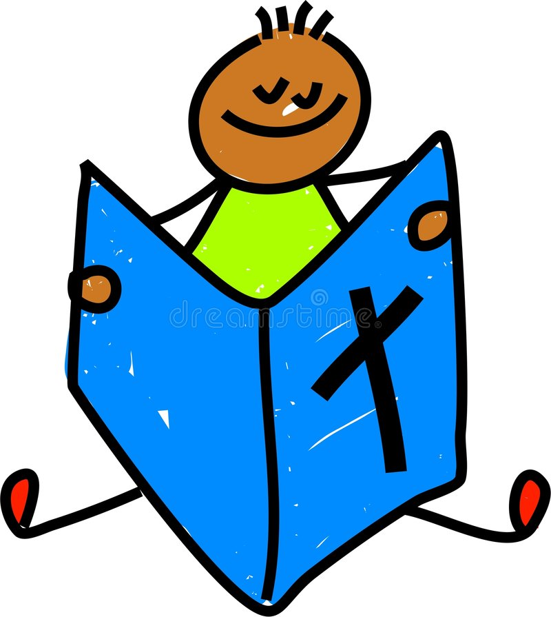 Bible kid royalty free illustration