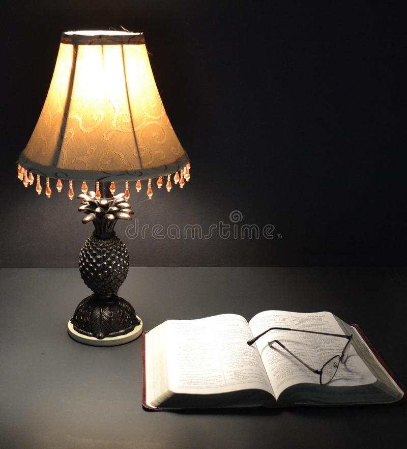 Bible and Lamp-01 royalty free stock images