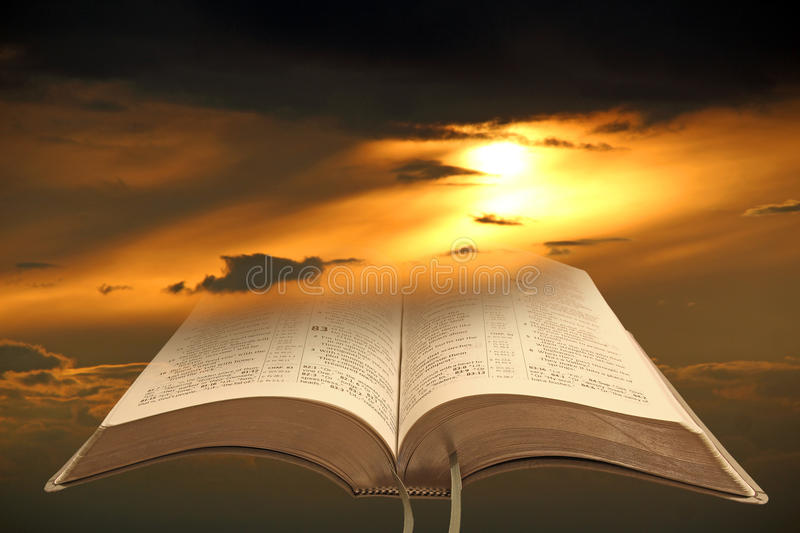 Bible light for mankind royalty free stock photos