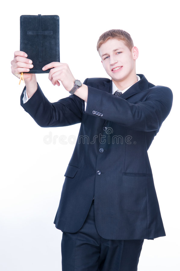 bible man showing young στοκ φωτογραφία με δικαίωμα ελεύθερης χρήσης