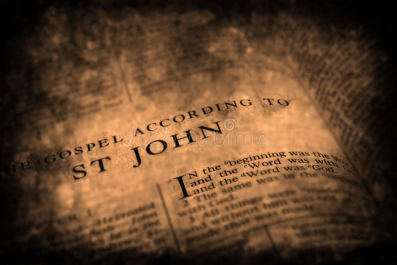 Bible New Testament St. John royalty free stock image
