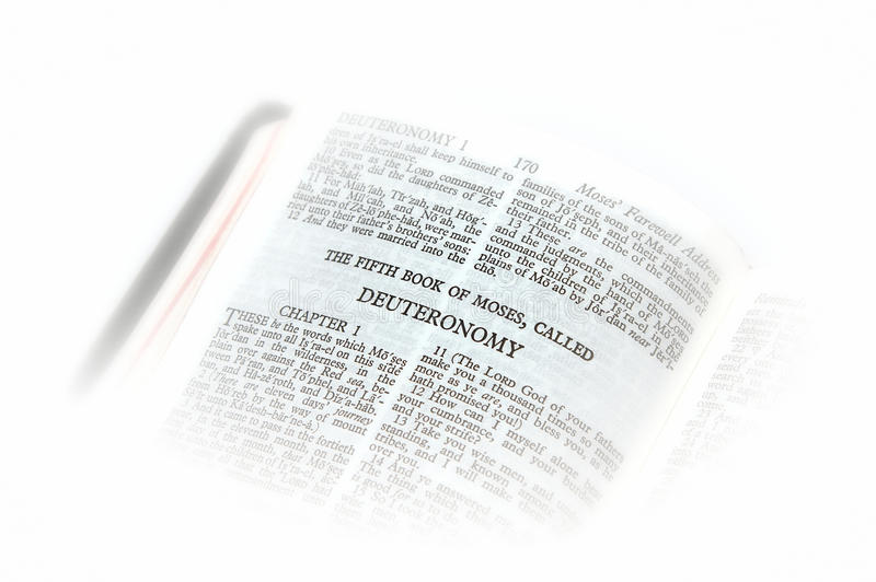 Download Bible Open To Deuteronomy Vignette Royalty Free Stock Images - Image: 10025739