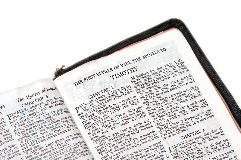 Download Bible Open To Timothy Stock Image - Image: 10285691