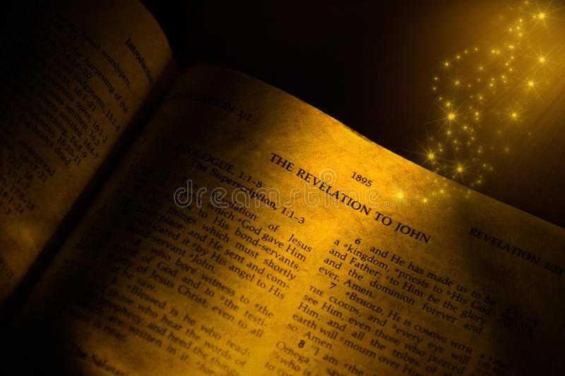 Bible Revelation. The Revelation given to John in the Holy Bible stock photo
