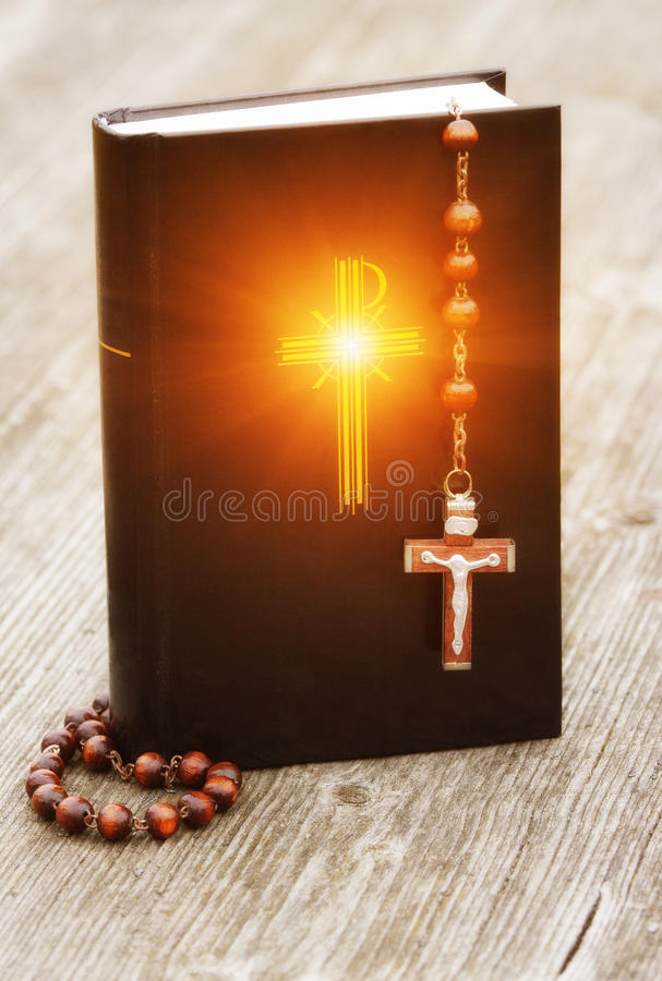 Download Bible and rosary stock photo. Image of angel, antique - 18438942
