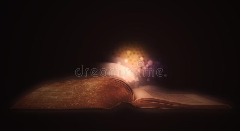 Bible rougeoyante illustration libre de droits