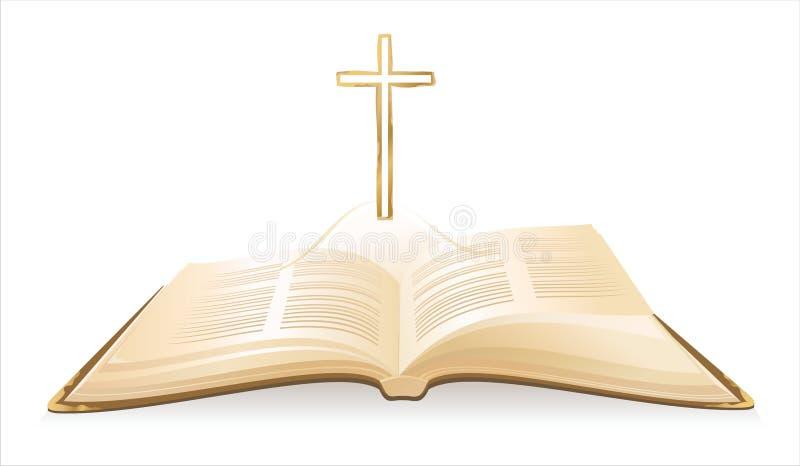 Bible sainte ouverte illustration stock