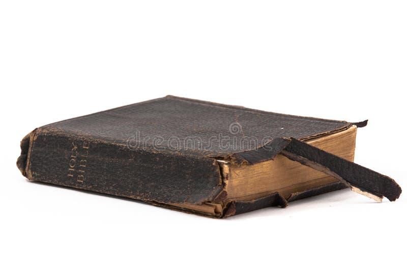 Bible sainte vieille et cru image stock