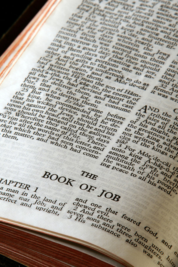 Bible series job stock image