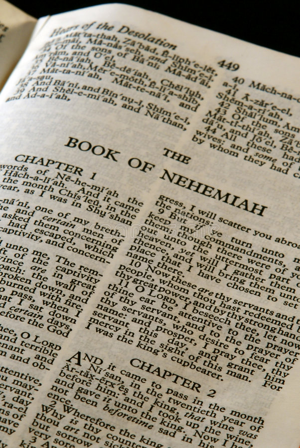 Bible series nehemiah royalty free stock photo