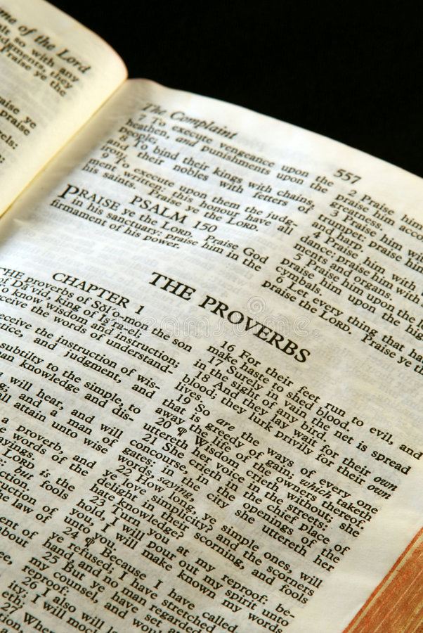 Bible Series Proverbs royalty free stock photography