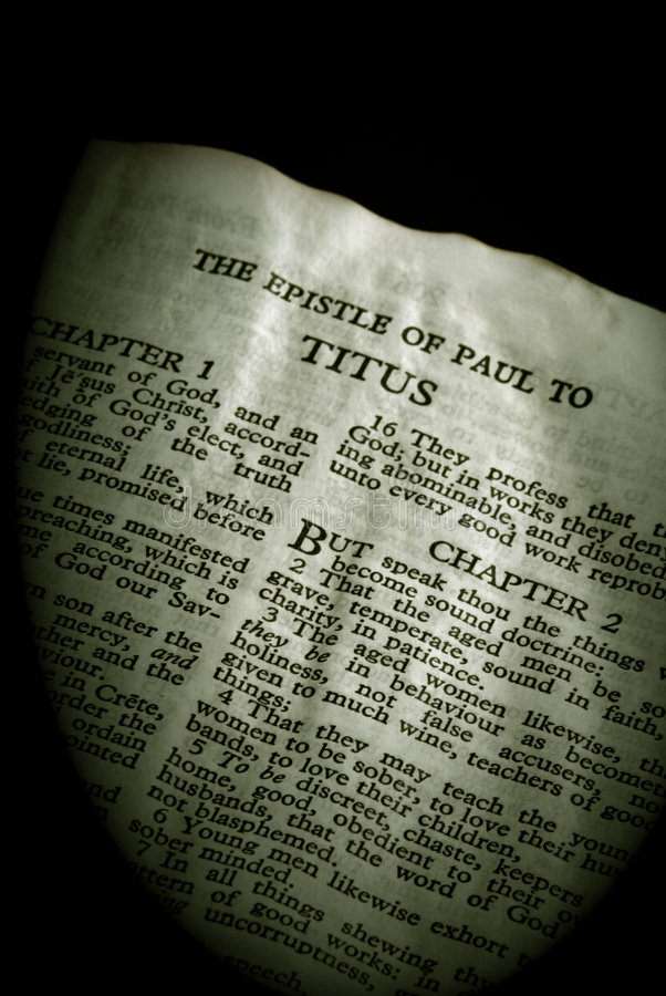 Free Bible Series Titus Sepia Stock Photo - 4302260