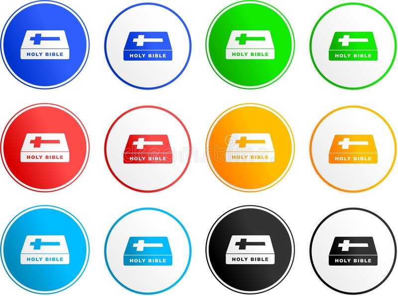 Bible sign icons royalty free illustration