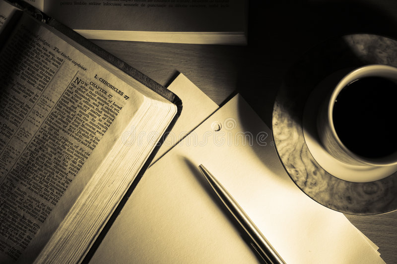 Bible Study 2 royalty free stock images
