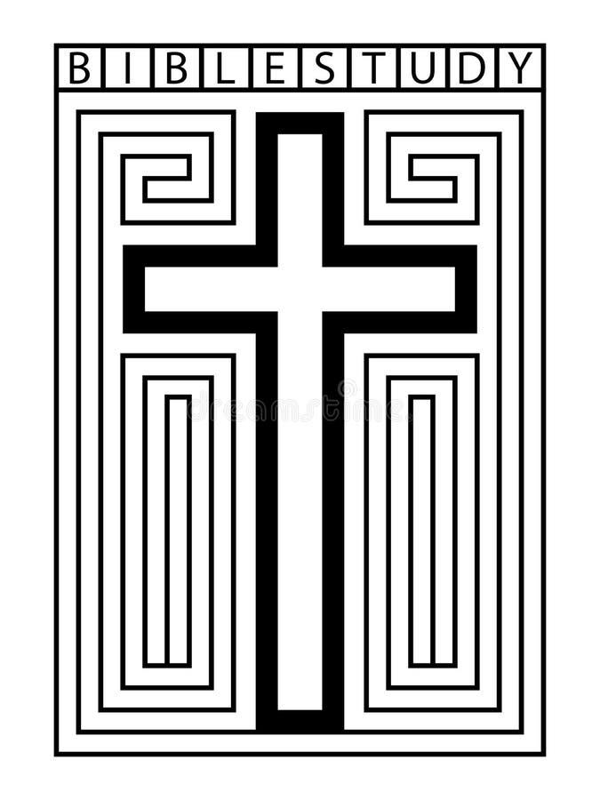 Bible Study Cross Maze Illustration stock photos