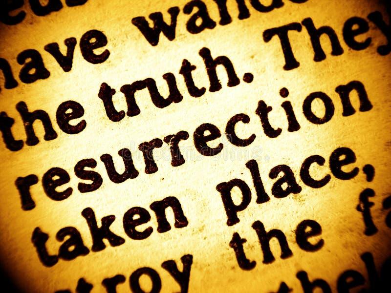 Bible text - Resurrection royalty free stock photos