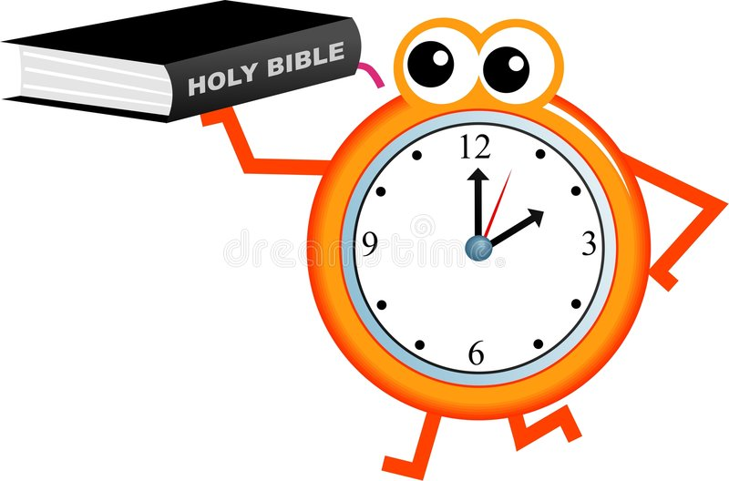 Bible time vector illustration