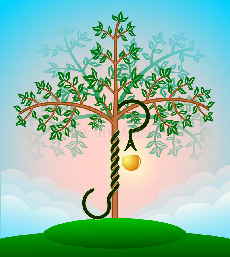 Download Bible tree of knowledge stock vector. Image of symbol - 16533571