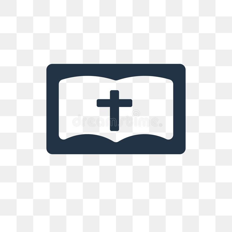 Bible vector icon isolated on transparent background, Bible tra stock illustration
