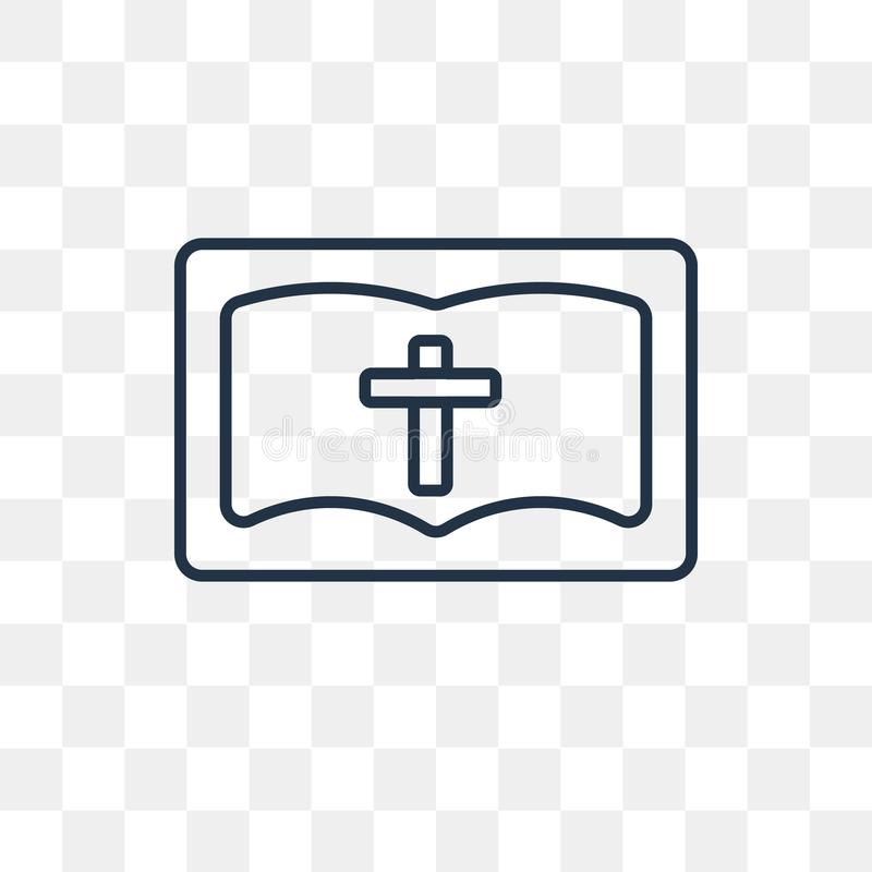 Bible vector icon isolated on transparent background, linear Bib stock illustration